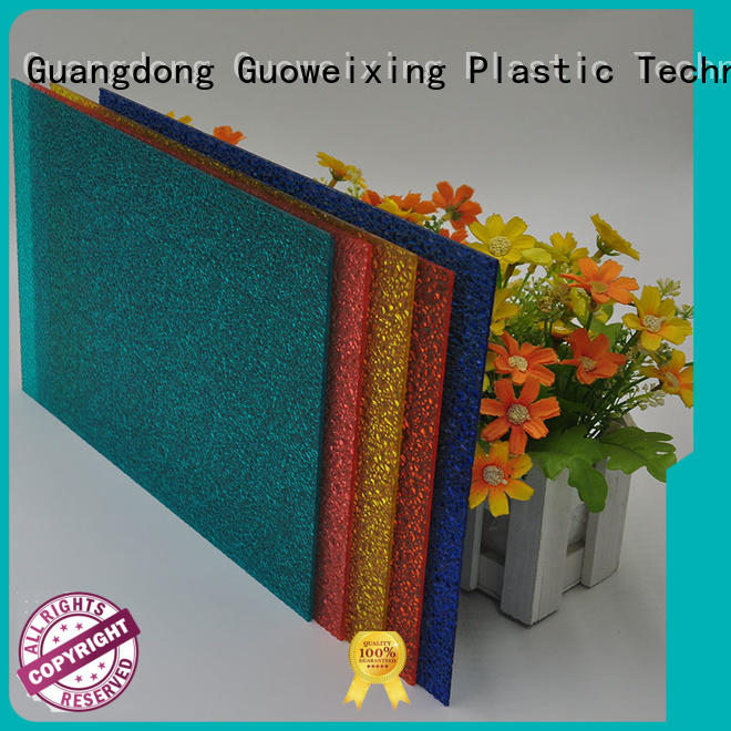 GWX Brand polycarbonate tinted polycarbonate embossed sheet thickness factory