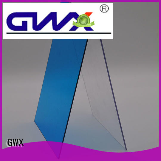 GWX twin wall polycarbonate solid sheet supplier for roofing covering