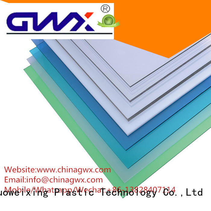 GWX Brand sun multi roller solid polycarbonate roofing width