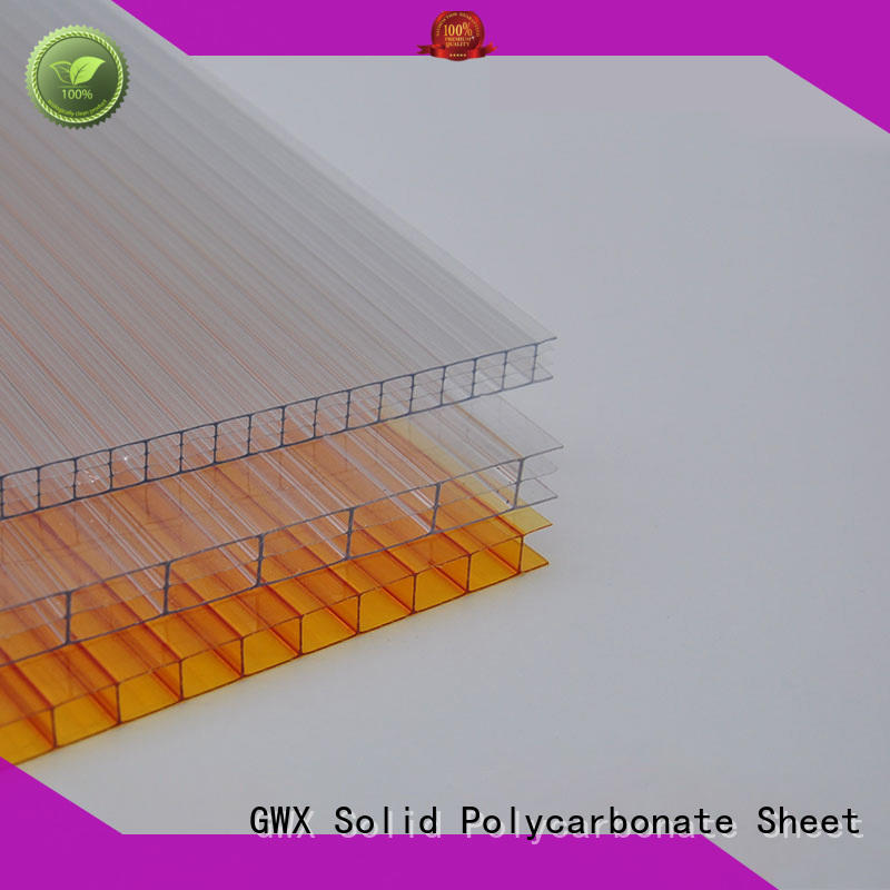 GWX impact-resistant hollow core polycarbonate sheet manufacturer for swimming pool cover