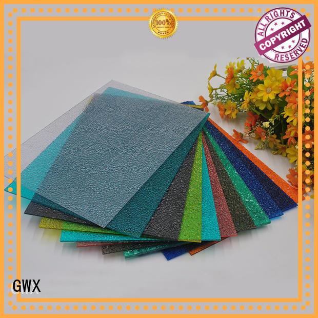diamond tinted GWX Brand polycarbonate embossed sheet