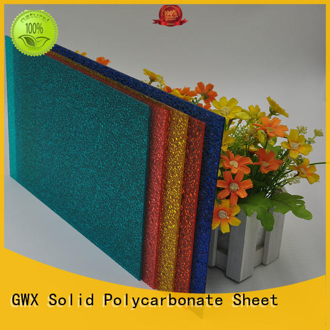 GWX hot selling polycarbonate embossed sheet manufacturer for overpass