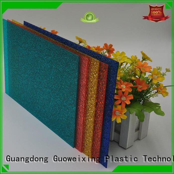 sheet uv makrolon polycarbonate sheet price diamond resistance GWX Brand