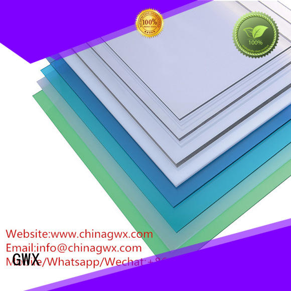 solid polycarbonate roofing sun sheets width GWX Brand company
