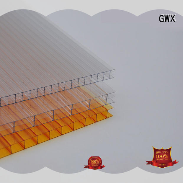 GWX lexan pc sheet manufacturer for carport