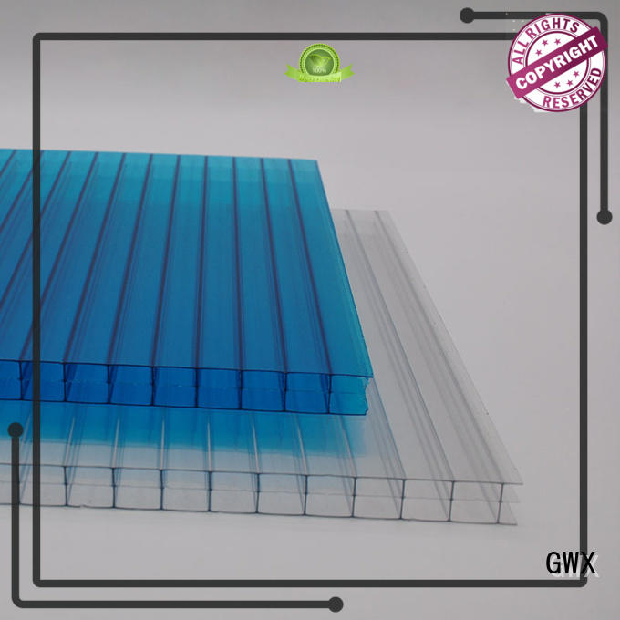 GWX impact-resistant hollow sheet polycarbonate supplier for skylight