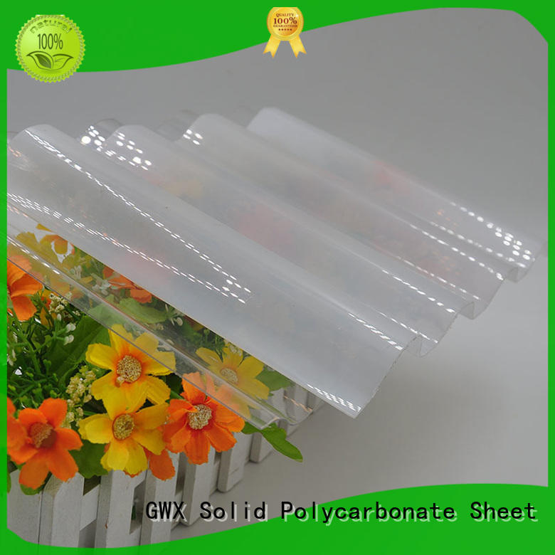 GWX UV coating corrugated polycarbonate factory direct for skylight