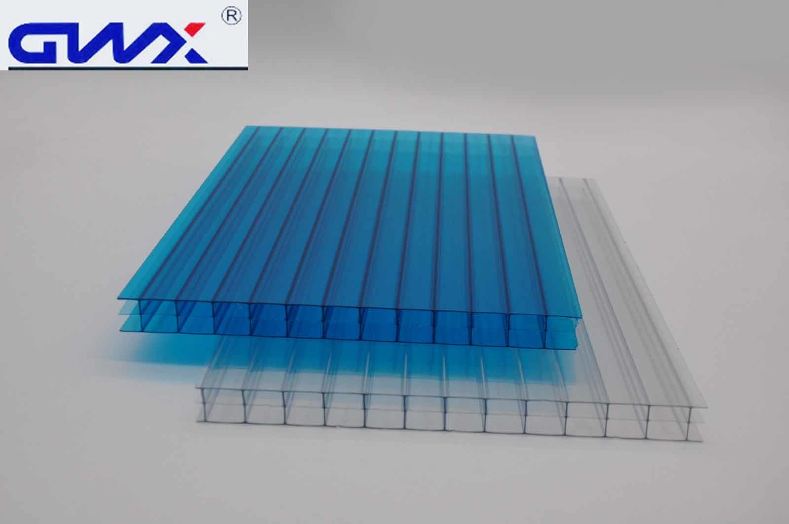 GWX impact-resistant pc multi polycarbonate multiwall sheet cellular for swimming pool cover-2