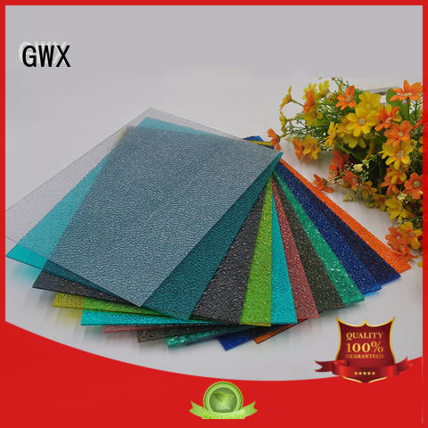 multi-color plastic embossed sheets diamond tinted factory direct for skylight
