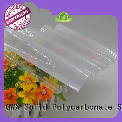 lexan corrugated polycarbonate panels round for roofing covering GWX