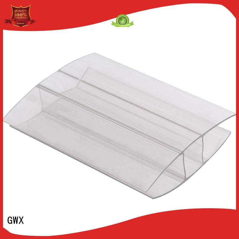GWX L shape polycarbonate h profile supplier