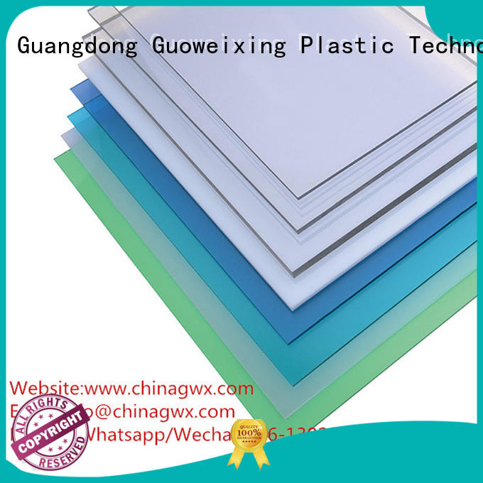 sheets polycarbonate solid sheet roller GWX company