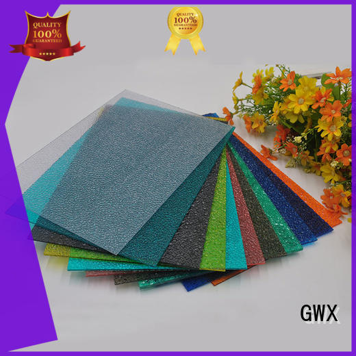 GWX good quality embossed polycarbonate sheet wholesale for overpass