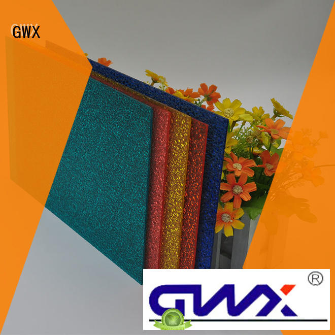 GWX lexan plastic embossed sheets wholesale for overpass