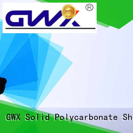 GWX hot selling solid polycarbonate roofing tinted for swimming pool