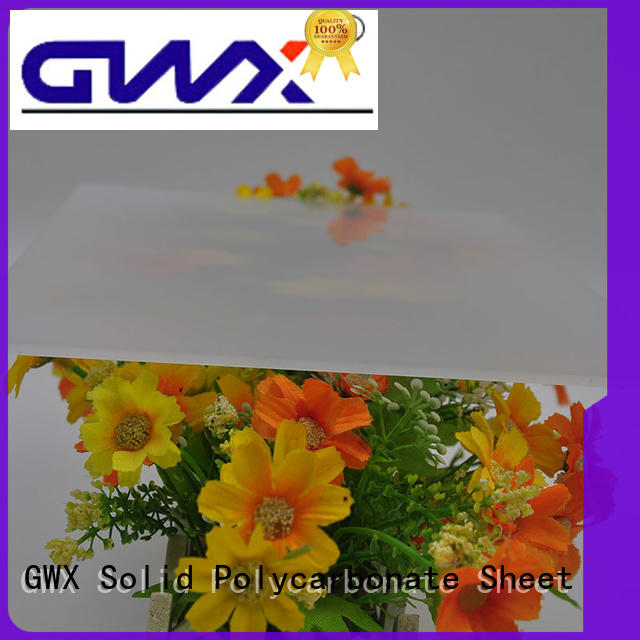 GWX multisize diffuser polycarbonate sheet supplier for garden house