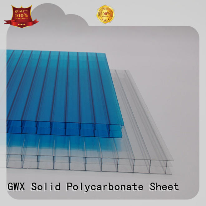 high quality hollow sheet polycarbonate 100% virgin Bayer factory direct for balcony
