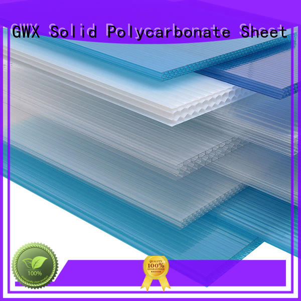 GWX impact-resistant pc sheet manufacturer for balcony