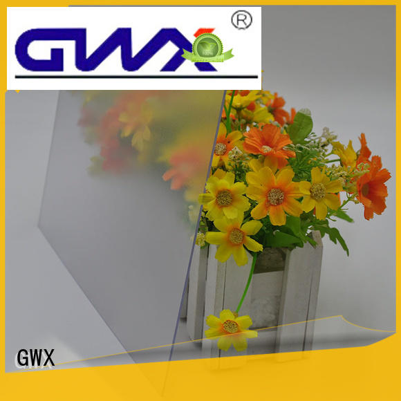 GWX impact resistance frosted plastic sheets factory direct for glazing windows