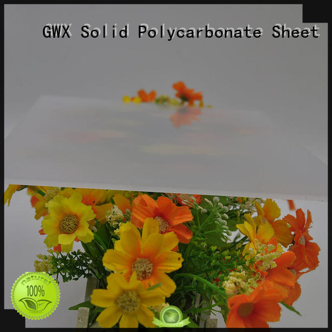 GWX translucent polycarbonate diffuser sheet wholesale for Gazebo