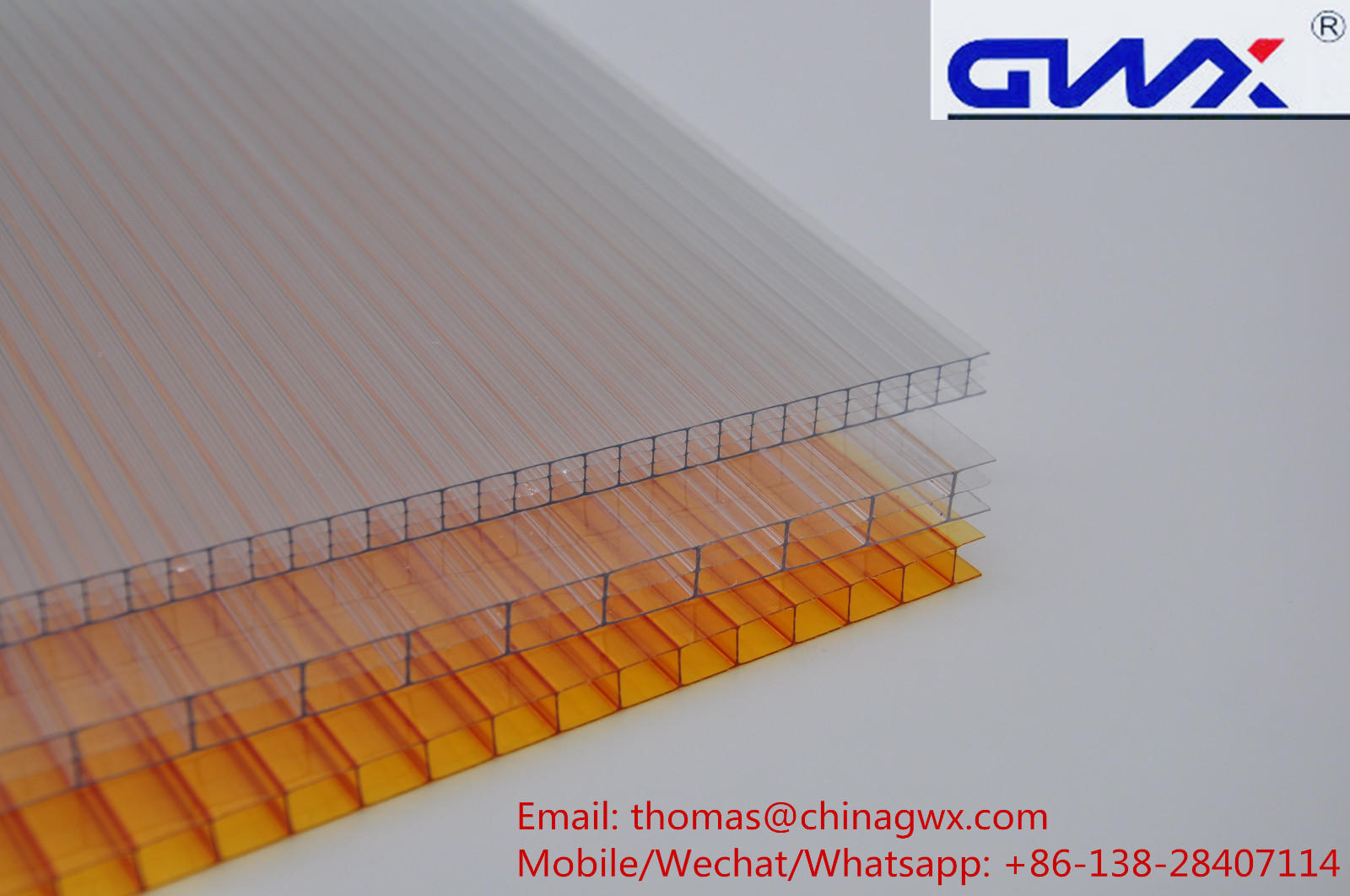 impact-resistant hollow sheet polycarbonate twin wall manufacturer for swimming pool cover-2
