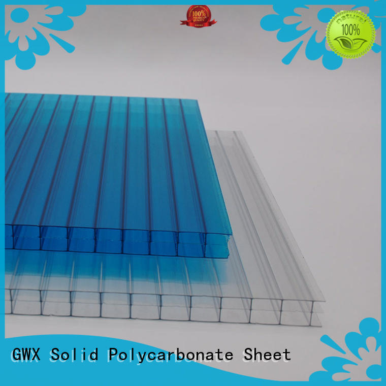 GWX high quality polycarbonate hollow sheet wholesale for greenhouse