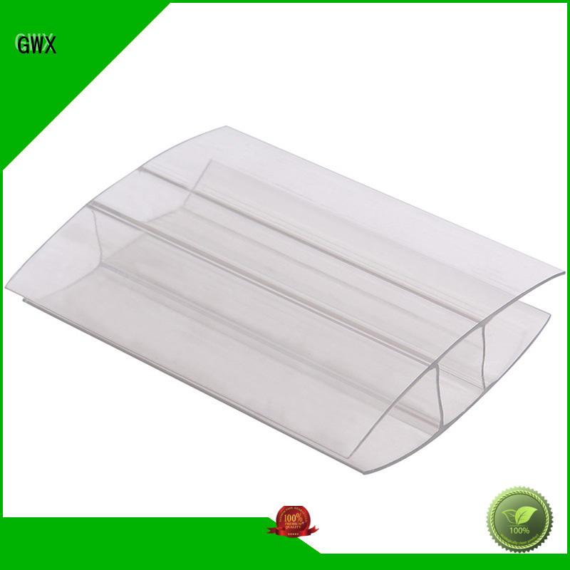 u profile plastic polycarbonate profile shapre GWX Brand polycarbonate u profile