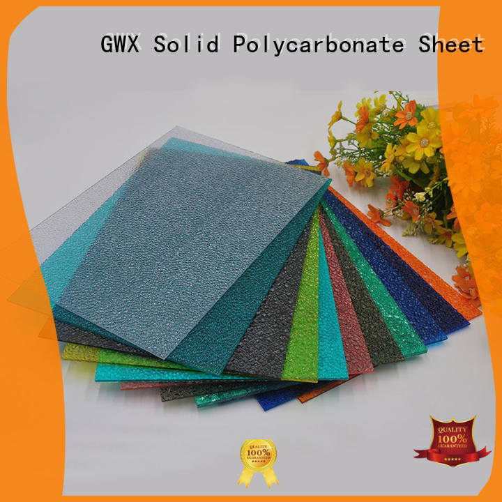 GWX lexan polycarbonate embossed sheet factory direct for overpass