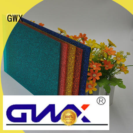 GWX diamond tinted embossed polycarbonate supplier for skylight