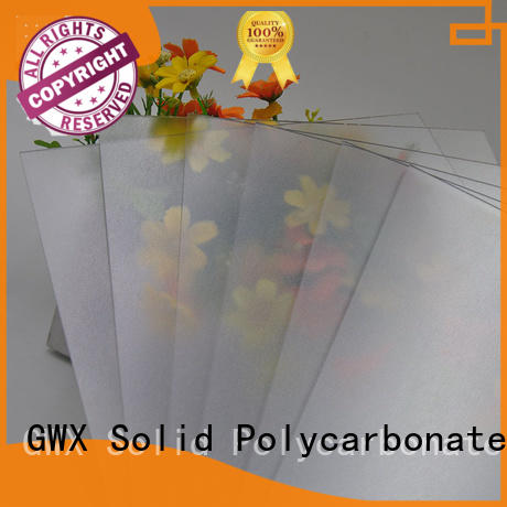 GWX clear frosted acrylic factory direct for office partition