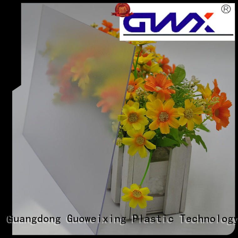 Quality GWX Brand frosted polycarbonate sheet ce