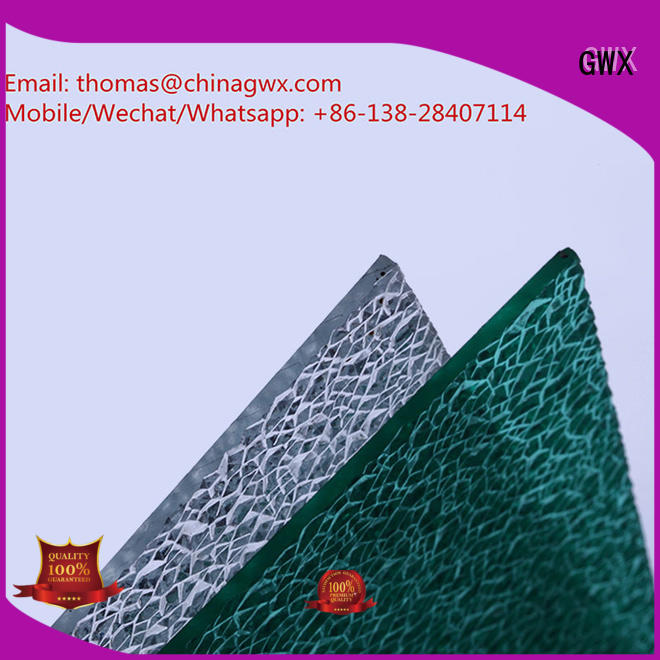 from diamond polycarbonate polycarbonate embossed sheet GWX Brand
