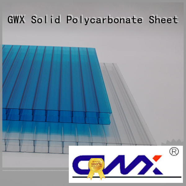 GWX 100% virgin Bayer polycarbonate hollow sheet wholesale for greenhouse