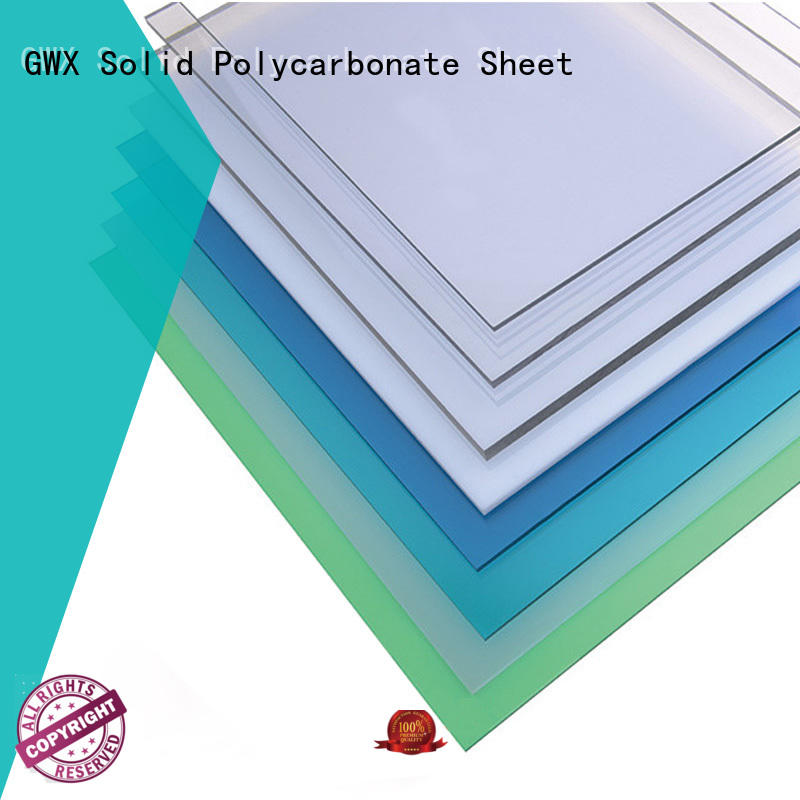 GWX 100% virgin Bayer makrolon transparent manufacturer for skylight awning