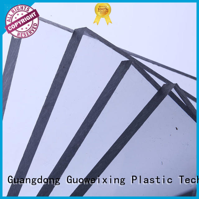 materials fireproof GWX Brand polycarbonate solid sheet