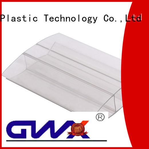 GWX Brand sheets clips accessories u profile plastic polycarbonate