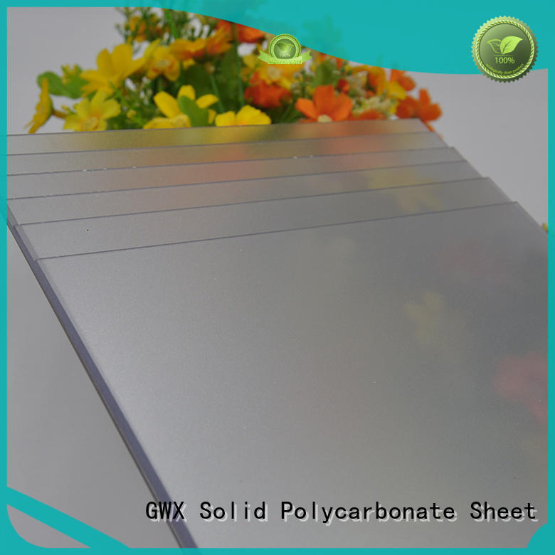 GWX uv protective frosted acrylic factory direct for garden house