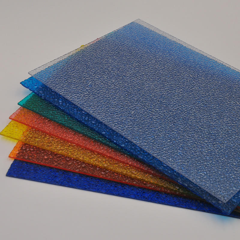 polycarbonate embossed panels with diamond UV surface from China manufacturer