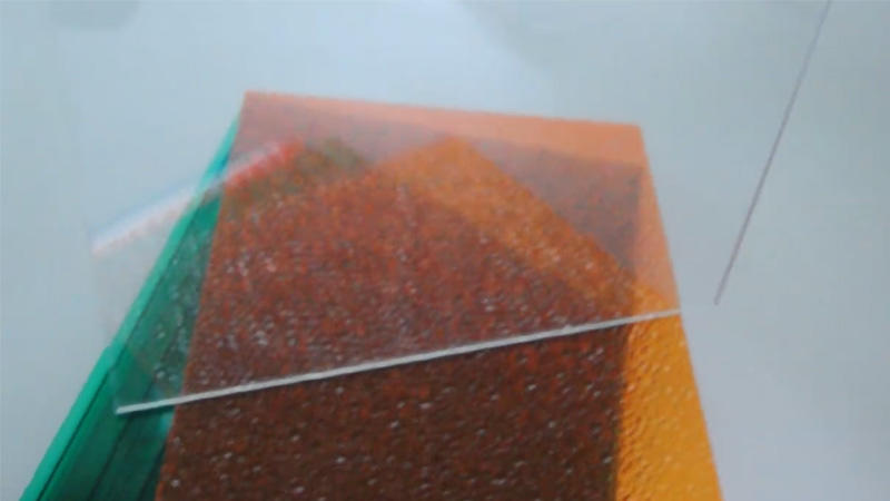 Polycarbonate embossed solid sheet with 10 years quality warranty