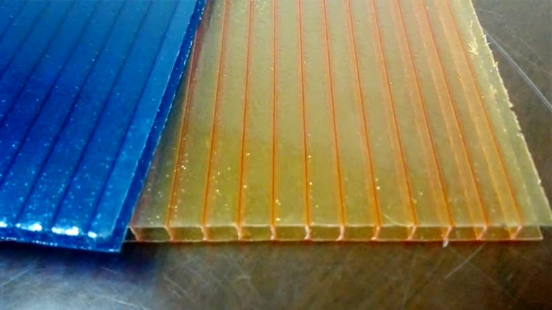 90% polycarbonate 10% fiber glass hollow sheet for building roofing