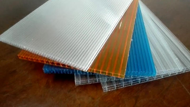 polycarbonate hollow sheet with twin wall triple wall cellular extrusion