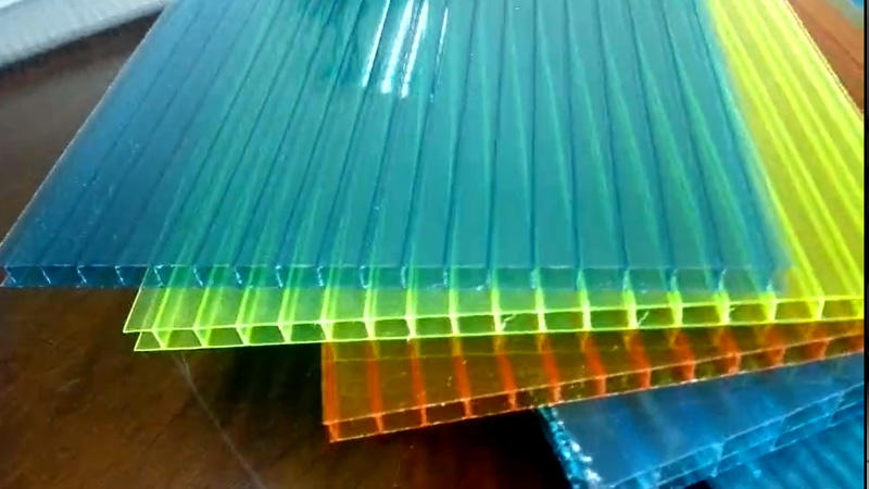polycarbonate hollow sheet with single wall twin wall multi wall thickness 4mm 6mm 8mm 10mm 12mm