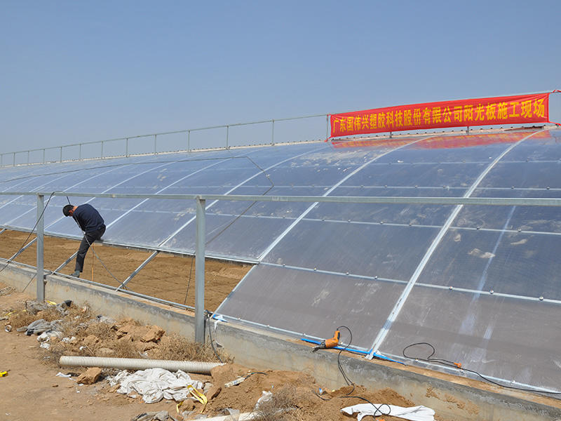 Polycarbonate dome roof for Vegetable green house in Sandong Province