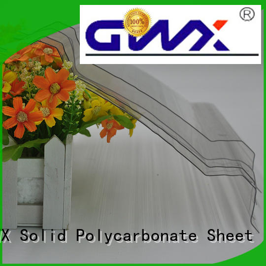 100% new virgin material corrugated polycarbonate panels trapezoid for roofing covering GWX