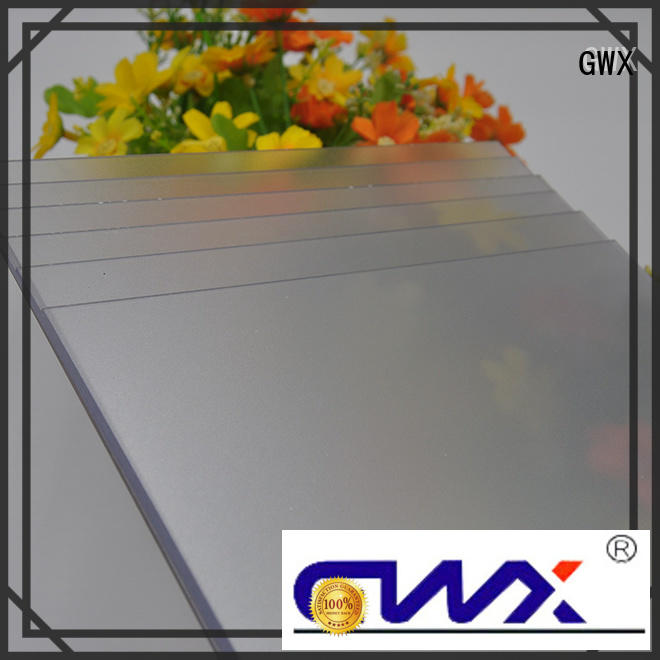 GWX clear frosted acrylic sheet factory direct for glazing windows