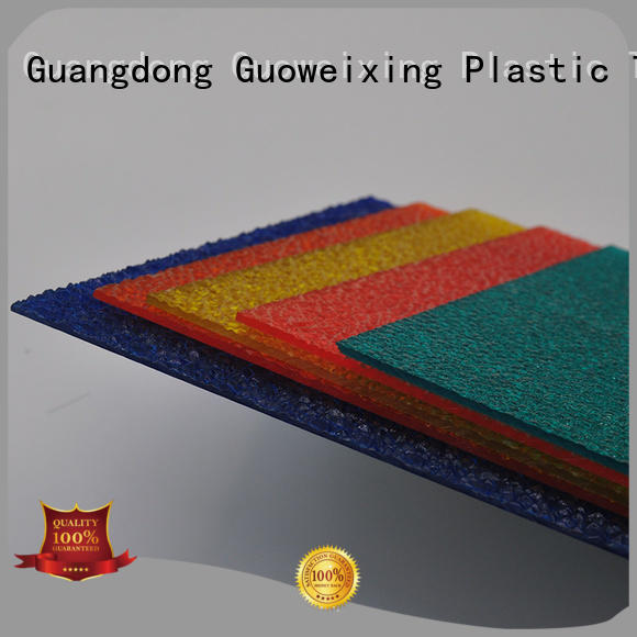 makrolon polycarbonate sheet price embossed from uv GWX Brand company