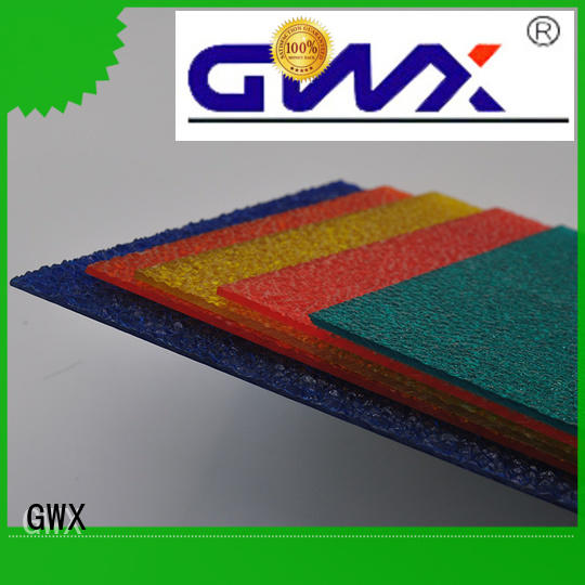GWX good quality pc embossed sheet factory direct for skylight