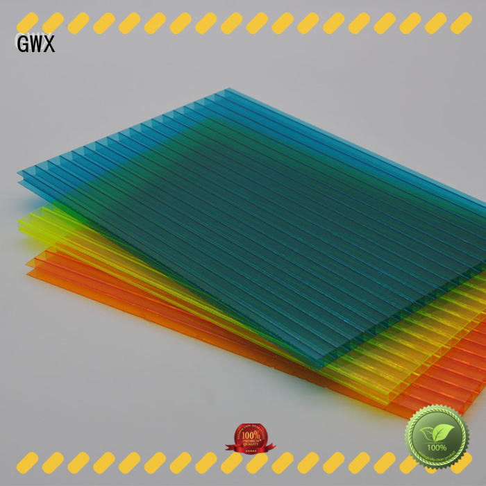 GWX 100% virgin Bayer hollow sheet polycarbonate factory direct for skylight