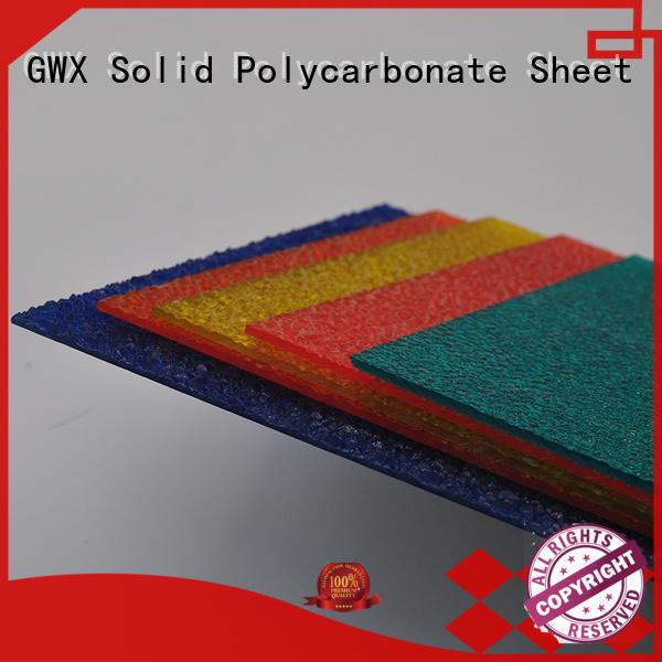 multi-color embossed polycarbonate sheet lexan manufacturer for door