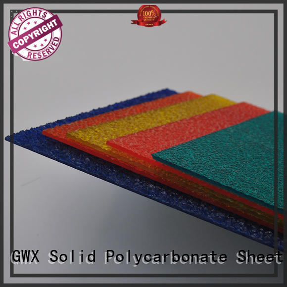 GWX multi-color plastic embossed sheets manufacturer for overpass